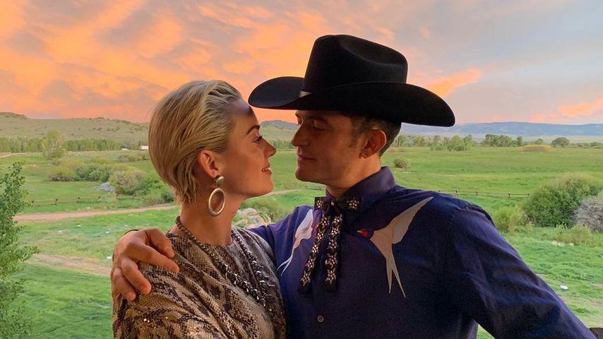 Katy Perry und Orlando Bloom bei der zweiten Hochzeit von Karlie Kloss, Juni 2019