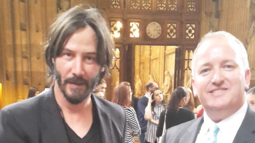 Keanu Reeves im britischen Parlament