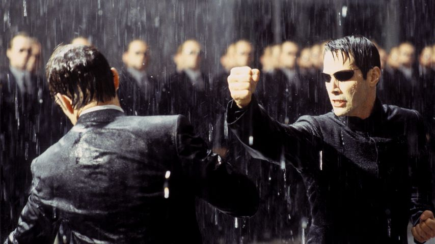 """Keanu Reeves in """"Matrix Revolutions"""""""