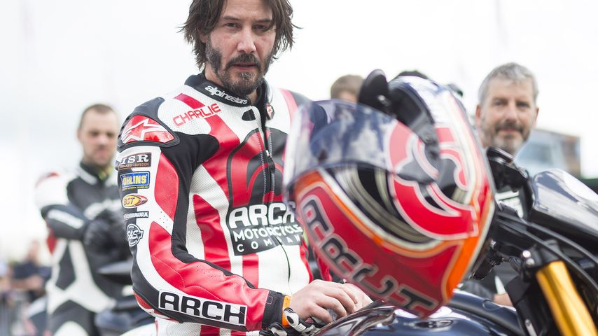 "Keanu Reeves 2016 beim ""Goodwood Festival of Speed"""