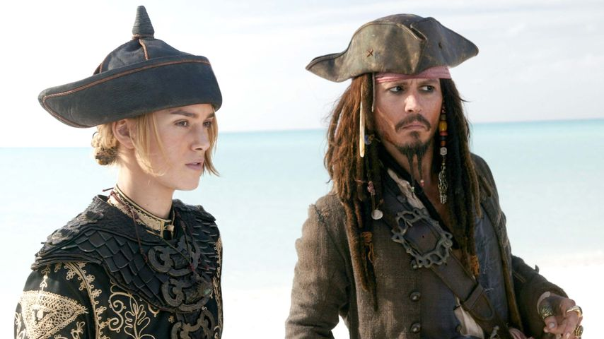 "Keira Knightley und Johnny Depp in ""Fluch der Karibik 3"""