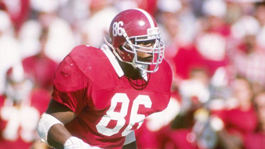 Keith McCants bei einem Spiel für die Alabama Crimson Tide 1989