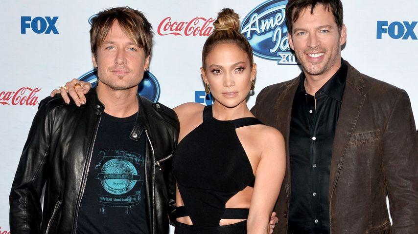 "Keith Urban, Jennifer Lopez und Harry Connick Jr., ""American Idol""-Jury"
