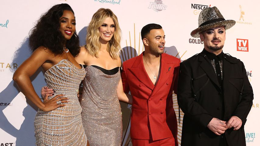 "Kelly Rowland, Delta Goodrem, Guy Sebastian und Boy George, Coaches bei ""The Voice Australia"""