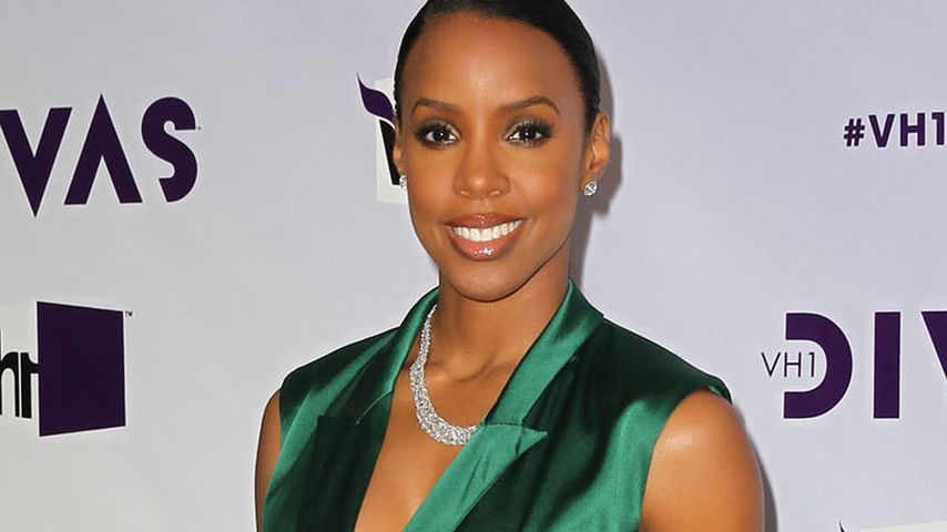 Elegant! Kelly Rowland im grünen Diven-Look
