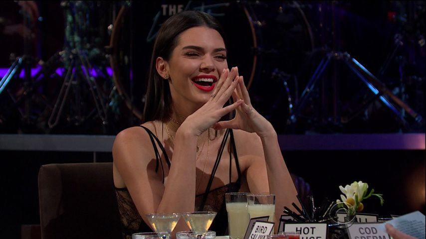 "Kendall Jenner in der ""The Late Late Show with James Corden"""