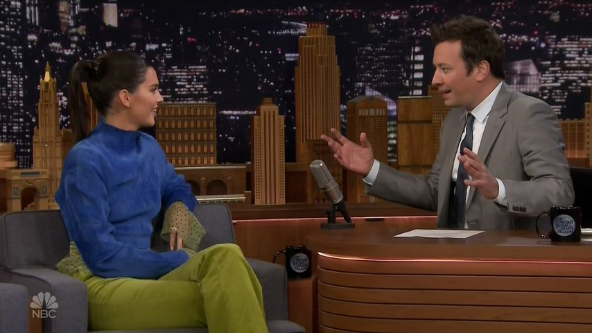 "Kendall Jenner und Jimmy Fallon in der ""Tonight Show"""