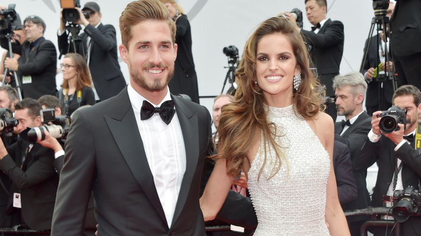 "Kevin Trapp und Izabel Goulart bei der ""The Killing of a Sacred Deer""-Premiere in Cannes im Mai 2017"