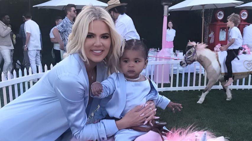 Stolze Mama Khloe Kardashian: True macht die ersten Schritte