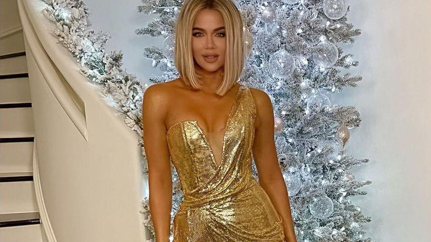 Khloe Kardashian und True Thompson an Weihnachten 2019