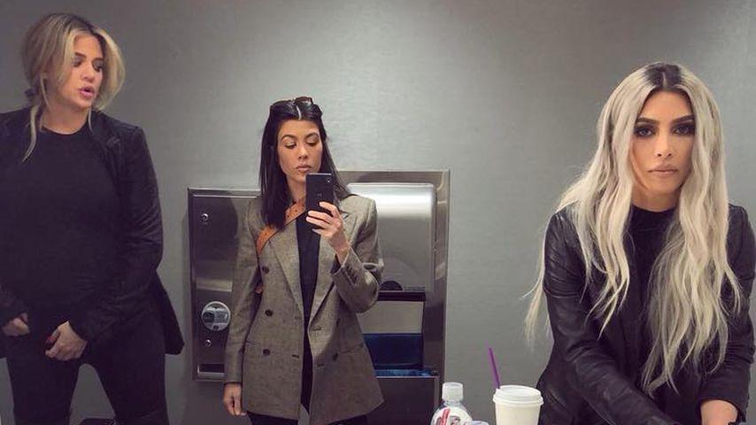 Khloe, Kourtney und Kim Kardashian machen ein Selfie