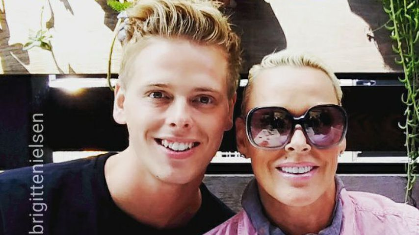 Killian Marcus und seine Mutter Brigitte Nielsen