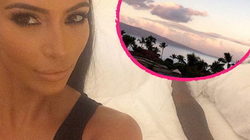 Traumhaft! Kim Kardashian relaxt zum 34. in Maui