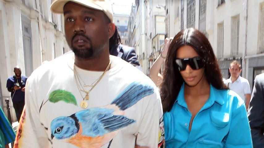 Rapper Kanye West und seine Frau Kim Kardashian, 2018