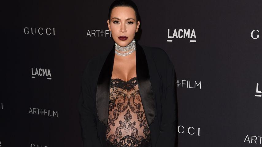 Schwanger und (fast) nackt! Kim Kardashian im Spitzen-Look