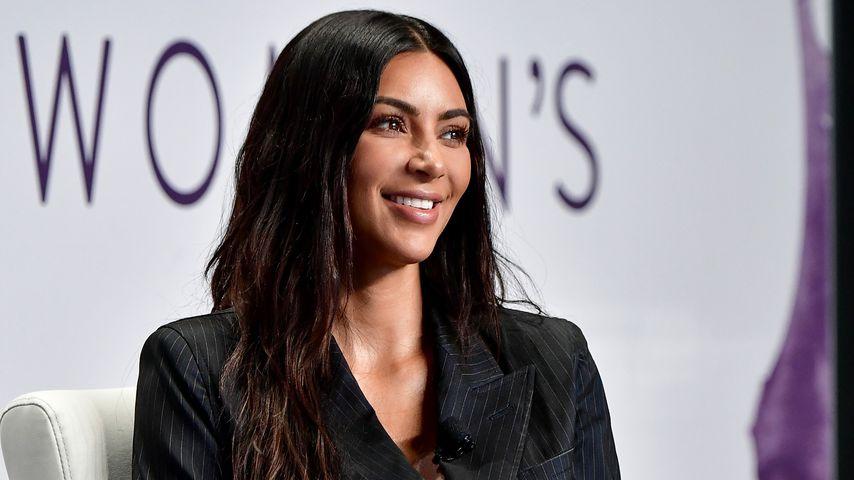 Kim Kardashian während eines Interviews in New York City