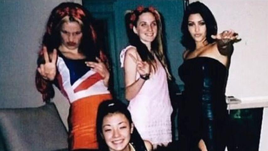 Kim Kardashian mit ihren Freundinnen als Spice Girls