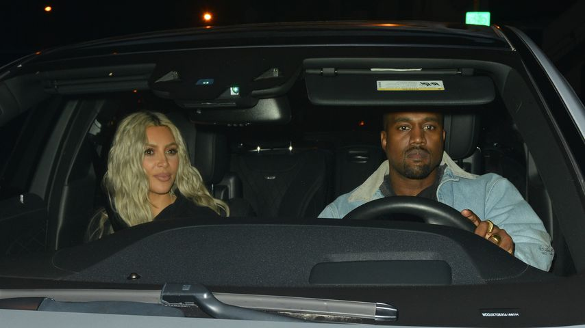 Kim Kardashian und Kanye West in West Hollywood
