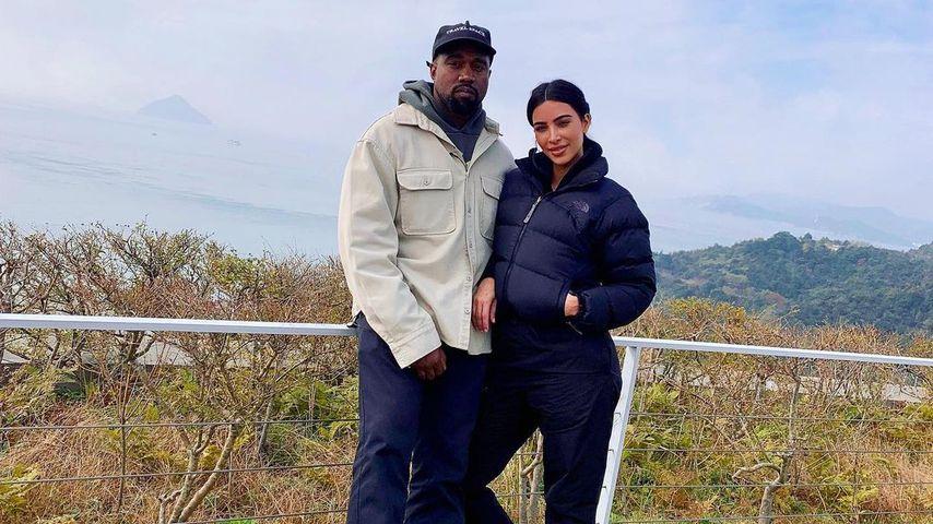 Kim Kardashian und Kanye West in Japan