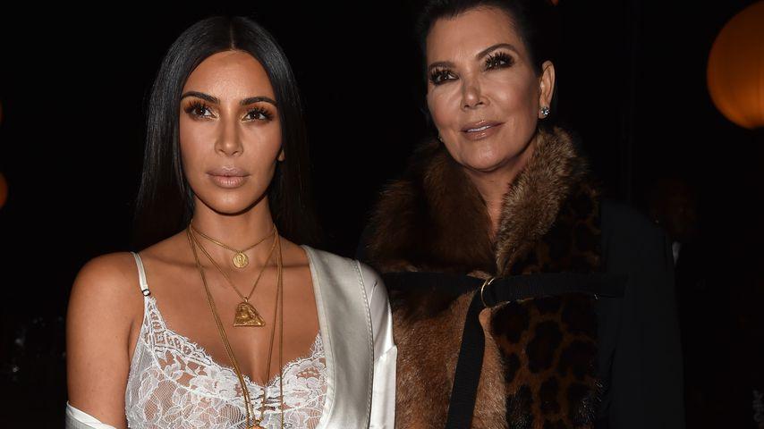 Kim Kardashian und Kris Jenner bei der Paris Fashion Week 2017