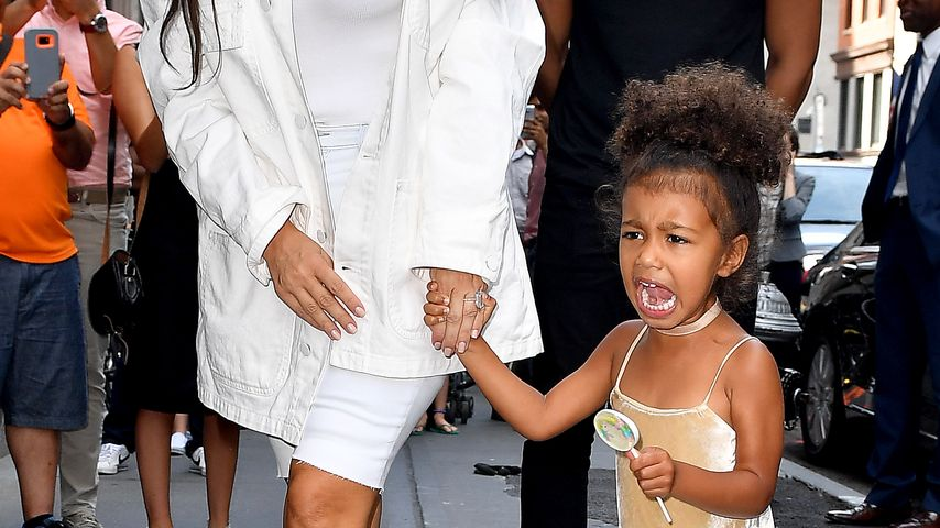 Kim Kardashian und North West in New York City
