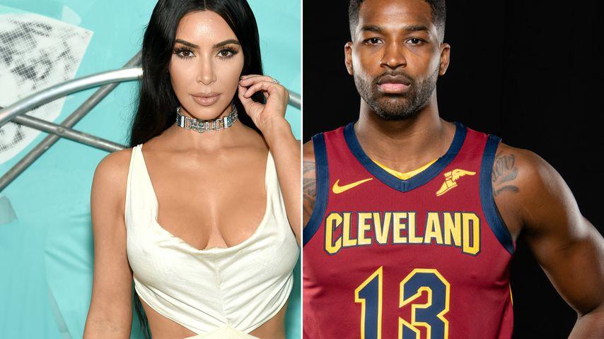 Collage: Kim Kardashian und Tristan Thompson