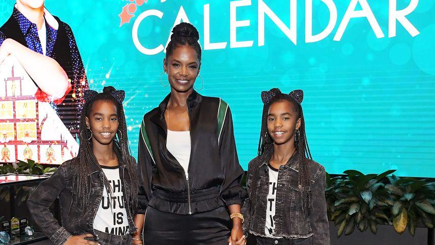 Kim Porter mit den Zwillingen Jessie und D'Lila
