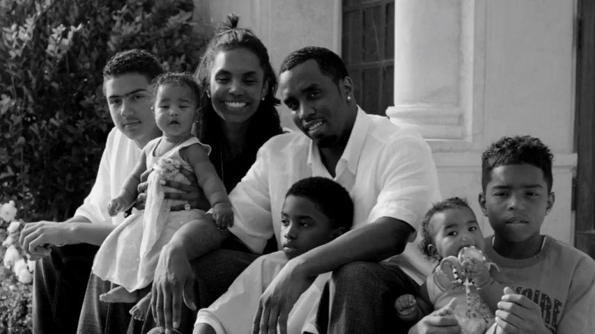 Kim Porter und P. Diddy mit ihrer Familie