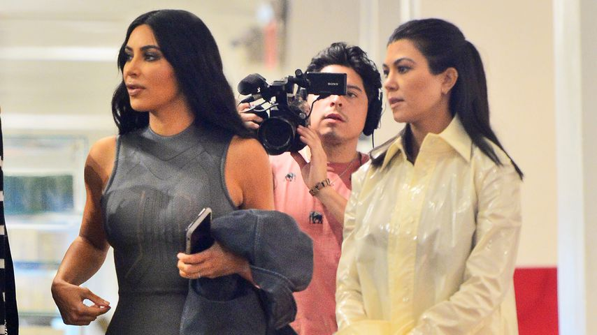 """Kim und Kourtney Kardashian, Dreharbeiten zu """"Keeping up with the Kardashians"""""""