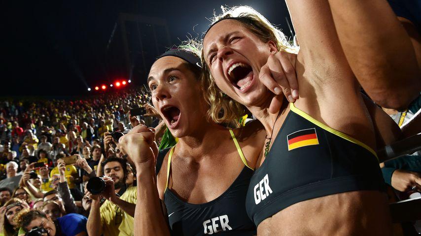 Kira Walkenhorst und Laura Ludwig bei den Olympischen Spielen 2016
