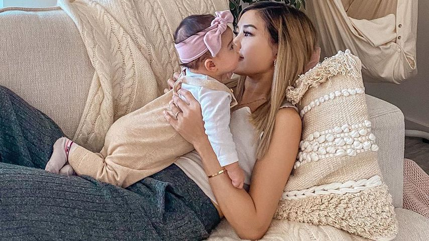 Influencerin Kisu mit Tochter Milena im März 2020