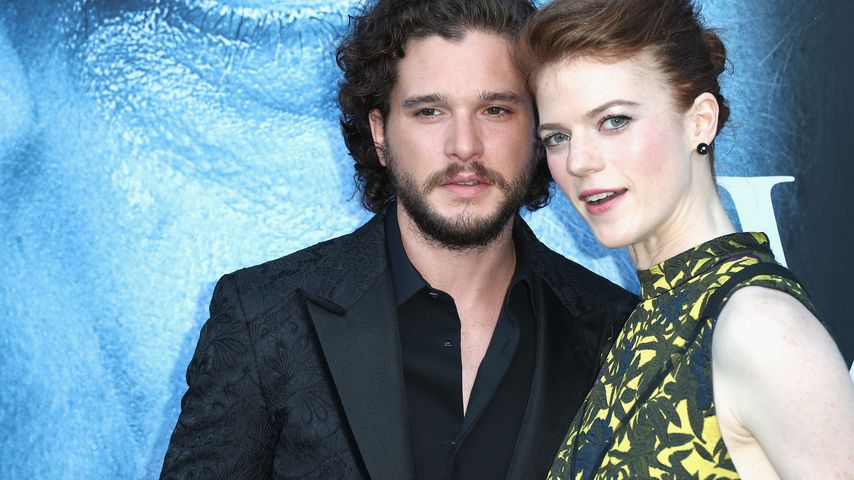 "Kit Harington und Rose Leslie bei der ""Game of Thrones""-Premiere in L.A. im Juli 2017"