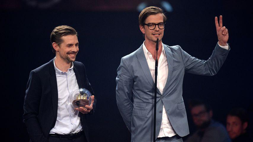 Klaas Heufer-Umlauf und Joko Winterscheidt bei der 1Live Krone 2014