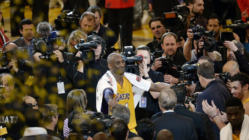 NBA-Legende tritt ab: Promis feiern Lakers-Star Kobe Bryant