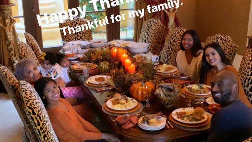 Kobe Bryant und Familie an Thanksgiving 2019