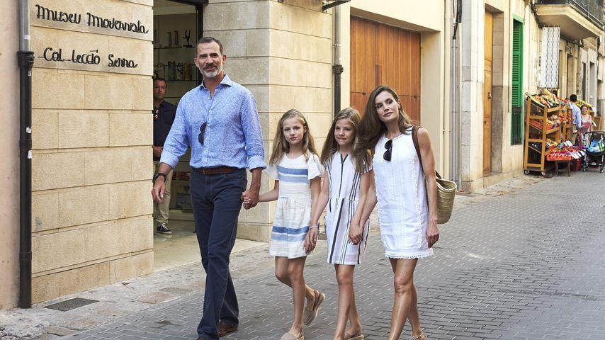 König Felipe, Prinzessin Leonor, Prinzessin Sofía und Königin Letizia