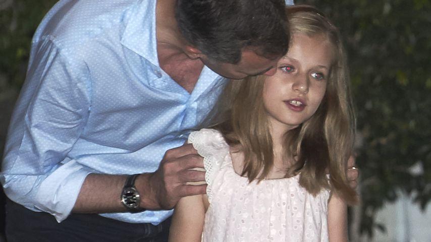 König Felipe von Spanien mit seiner Tochter Leonor