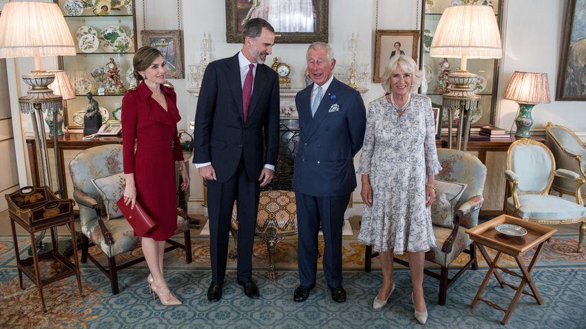 Königin Letizia und König Felipe von Spanien mit Prinz Charles und Herzogin Camilla