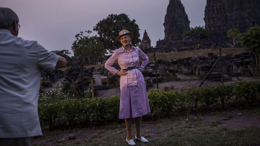 Königin Margrethe in Yogyakarta in Indonesien im Oktober 2015
