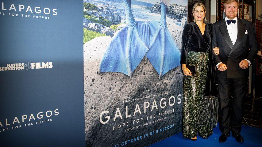 """Königin Máxima und König Willem-Alexander bei der Premiere von """"Galapagos: Hope for the Future"""" 2019"""