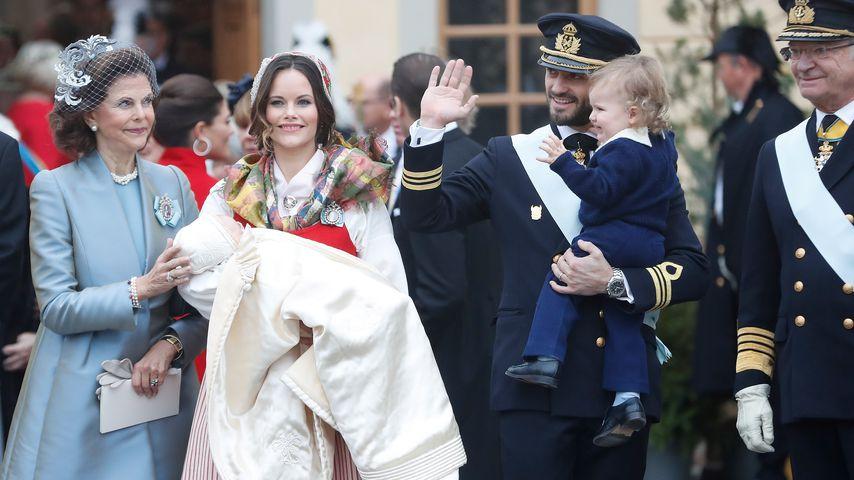 Königin Silvia, Prinzessin Victoria, Prinz Gabriel, Prinz Carl Philip und Prinz Alexander