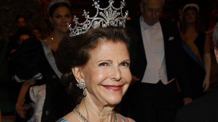 Königin Silvia von Schweden bei der Nobelpreis-Verleihung im Dezember 2019 in Stockholm