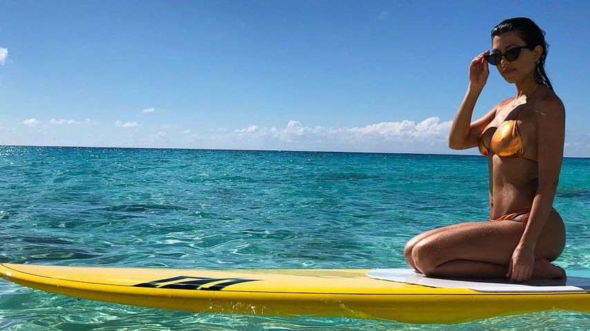 Kourtney Kardashian im Urlaub auf den Turks- und Caicosinseln