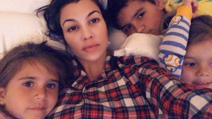 Kourtney Kardashian mit ihren Kindern
