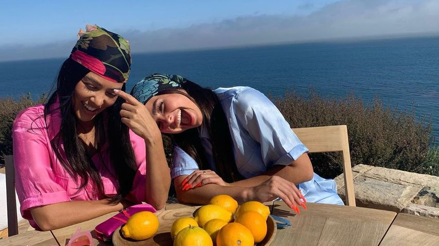 Kourtney Kardashian und Addison Rae im Juli 2020