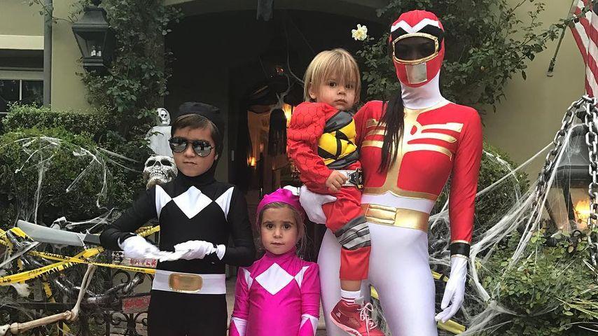 Kourtney Kardashian und ihre Kinder an Halloween 2016