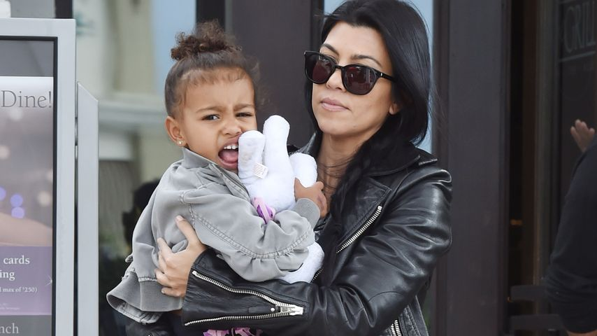 North West und Kourtney Kardashian