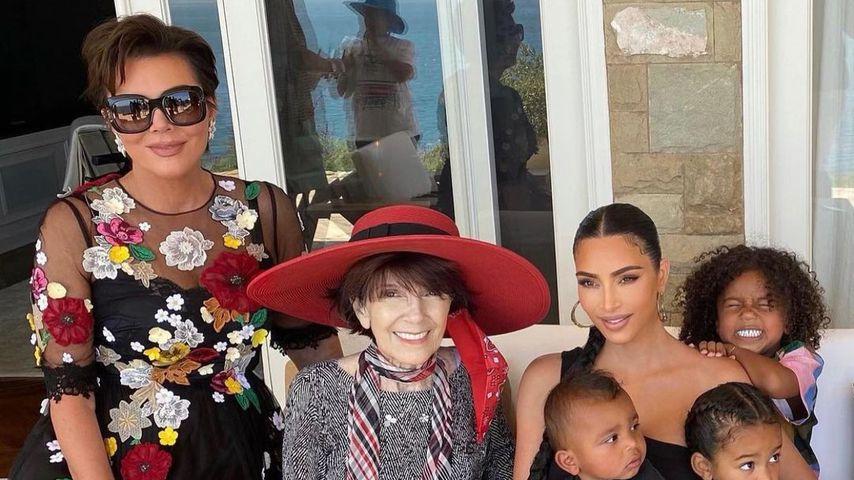 Kris Jenner, MJ, Kim Kardashian und deren Kinder
