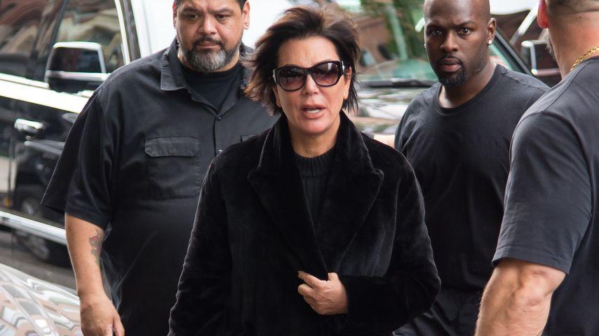 Kris Jenner nach ihrer Ankunft in New York