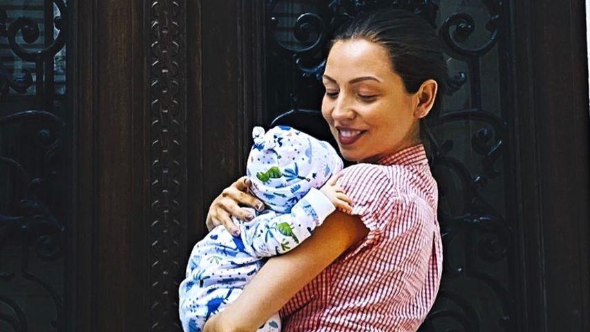 Kristina Yantsen und ihr Sohn im Mai 2020